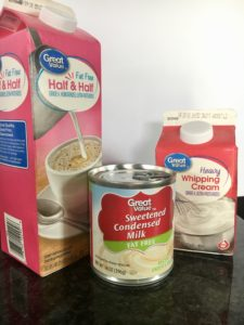 I combined sweetened condensed milk, half & half creamer, heavy whipping cream, and vanilla extract for the perfect vanilla coffee creamer that only ...